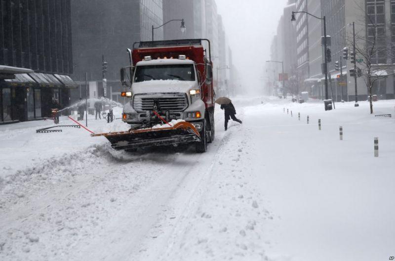Снегопад США
