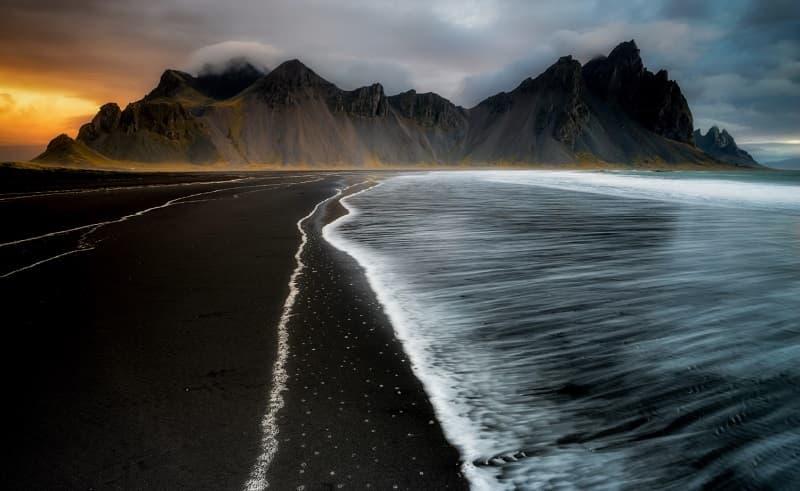 Пляж reynisfjara beach