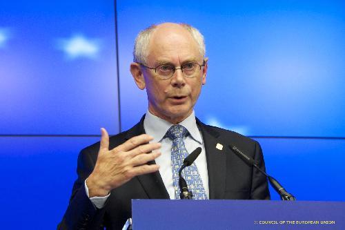 Ван Ромпей: ЕС изучит варианты усиления санкций против России