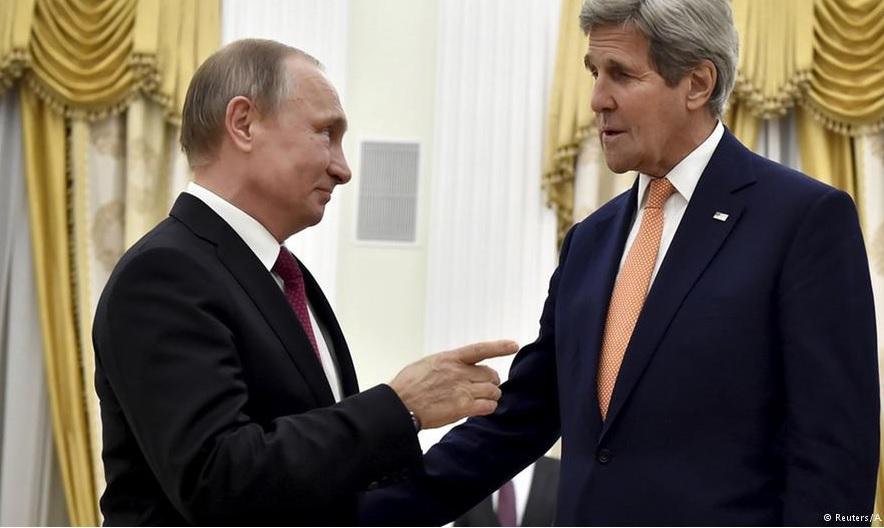Путин и Джон Керри